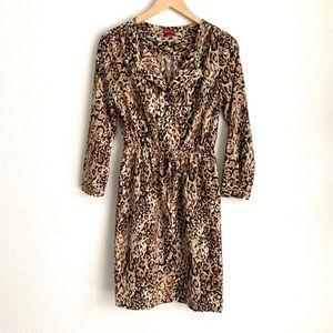 Merona 3/4 sleeve leopard print pullover dress